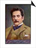 Giacomo Puccini Italian Opera Composer in Middle Age Print