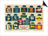 Badges Caps and Colours of English County Cricket Clubs Posters by Alfred Lambert