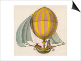 French Project for a Dirigible Balloon: by an Unidentified Inventor Art