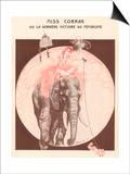 Gesmar - Circus Elephant and His Trainer Miss Cornak - Reprodüksiyon