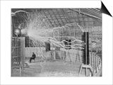 Nikola Tesla Produces Artificial 'Lighting' Posters