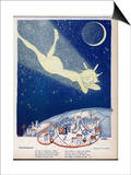 Halley's Comet Soars Over Denmark Print by Axel Nygaard