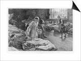 In Scutari Florence Nightingale Attends to a Patient Prints by William Hatherell