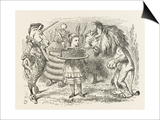 Lion and Unicorn Alice with the Lion and the Unicorn, and a Plum Cake Posters by John Tenniel