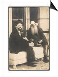 Anton Chekhov Russian Writer with Leo Tolstoy Poster
