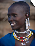 Portrait of a Maasai Woman, Lake Manyara National Park, Tanzania Poster by Ariadne Van Zandbergen