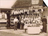 Fine Display of Meat Displayed Outside a Butcher's Shop Posters