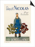 Poster for the Nicolas Chain of Wine Shops France Art by  Dransy