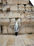 Man Wearing Prayer Shawl (Tallith) Praying at Western Wall Posters by Brian Cruickshank