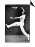 Fred. J. Perry Playing on the Centre Court at Wimbledon Posters