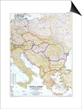 1951 Central Europe Map Prints
