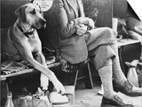 Crossed Legs at a Manchester Dog Show Prints by Shirley Baker
