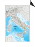 Map of Italy Prints