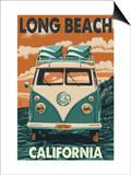 Long Beach, California - VW Van Posters by  Lantern Press