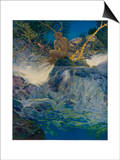 Pan by a Stream Posters by Maxfield Parrish