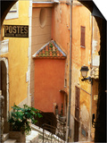 Village Laneway and House Walls, Roquebrune, Provence-Alpes-Cote d'Azur, France Posters by David Tomlinson