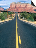 Road Into Sedona, Sedona, U.S.A. Prints by Ann Cecil