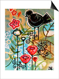 Blossoms and Blackbirds Póster por Natasha Wescoat