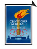 Postcard to Commemorate the Carrying of the Olympic Torch Through Vienna Posters