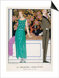 Jade Green Dress by Beer Prints by Georges Barbier