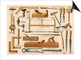 Tools Used in Carpentry and Joinery Prints