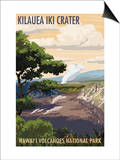 Kilauea Iki Crater, Hawaii Volcanoes National Park Poster by  Lantern Press