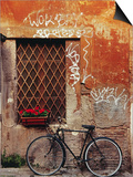 Bicycle Against Wall at Trastavere, Rome, Lazio, Italy Art by Izzet Keribar