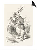 The White Rabbit Checks His Watch Posters by John Tenniel