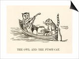 The Owl and the Pussy-Cat Went to Sea in a Beautiful Pea- Green Boat Poster von Edward Lear