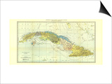1906 Cuba Map Prints by  National Geographic Maps