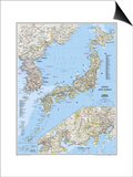 2011 Japan and Korea Map Prints by  National Geographic Maps
