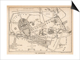 Plan of the Botanical Gardens Affiches