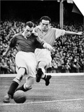 Bryn Jones Tackling Gillick, Arsenal Vs. Everton, 1938 Prints