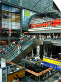 View Inside the New Central Railway Station, Berlin, Germany Posters