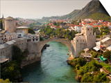 Stari Most or Old Bridge over Neretva River Poster by Richard l'Anson