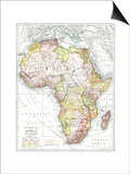 1909 Africa Map Posters