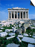 Parthenon at Acropolis (Sacred Rock), Athens, Greece Print by Izzet Keribar