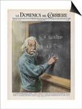 Albert Einstein at Princeton 1950 Poster af Walter Molini