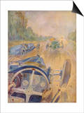 The Race as the Bugatti Driver Sees It Posters by Geo Ham