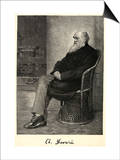 Charles Darwin English Naturalist Sitting in a Chair Print by Thomas Johnson
