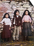 The Three Children Jacinta Francisco and Lucia Who Saw the Vision of Fatima in Portugal Posters