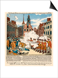 Paul Revere's Engraving of the Boston Massacre, 1770, an Event Leading to the Revolutionary War Prints