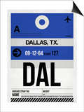DAL Dallas Luggage Tag 1 Art by  NaxArt