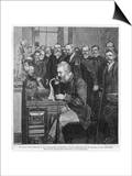 Alexander Graham Bell American Inventor and Educator Inaugurates the New York- Chicago Telephone Prints