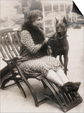 Helen Keller with Her Great Dane Art