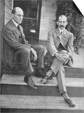 Wilbur and Orville Wright on the Steps of Their Home Poster
