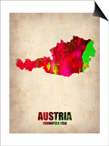 Austria Watercolor Poster Prints by  NaxArt