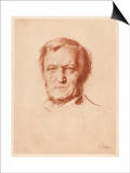 Wilhelm Richard Wagner German Composer Prints by Franz Von Lembach