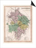 Map of Warwickshire Prints by James Archer