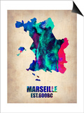Marseille Watercolor Poster Prints by  NaxArt